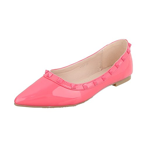 Womens Shoes, PF 2209H, Ballerinas Pink Rosa XY02