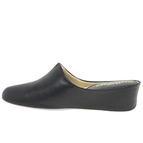 De Estar Relax Cuero Por Para Zapatillas Negro Casa Mujer Effrxw5R