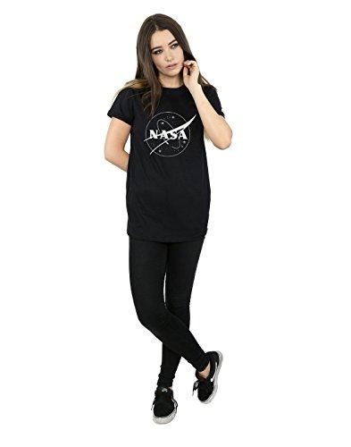 Fit Insignia Nasa Monochrome Cult Negro camiseta Logo Absolute Boyfriend Classic Women If8nq1