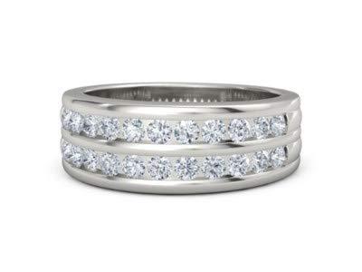 - Addamas 950 Herren Ring aus massivem Platin, 0,66 Karat echter Diamant