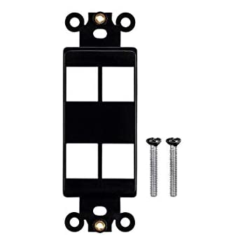 Wallpalte Gangboxes Black Monoprice Keystone 1 Hole Decor Insert for Ethernet Networks Or Home Theater Interconnects Keystones