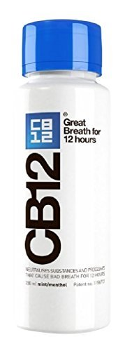 CB12 Mint Menthol Safe Breath Mouthwash (250ml) by CB2