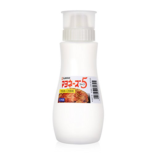 - MXY Japanese Squeeze Bottle Creative 5 Hole Design Salad Vinegar Ketchup Honey Oil Pot with Dust Lid 380ml (White)
