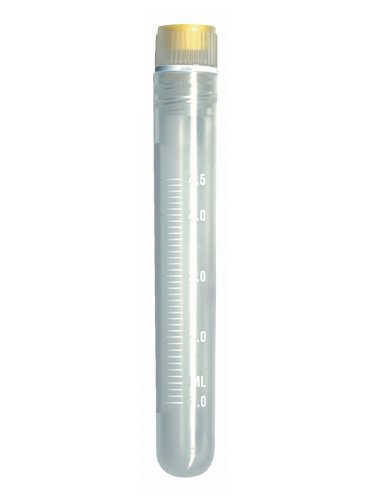 Chemglass CLS-4764-005 Polypropylene 5.0mL Sterile Round Bottom Cryo Vial, with Internal Thread and Silicone Washer Seal (Pack of (005 Washer)