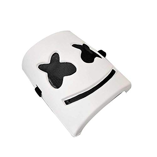 Cheng-store Marshmello DJ Mask Latex Head Mask Helmet Costume Accessories for Halloween Party Cosplay Props Future Bass Music -
