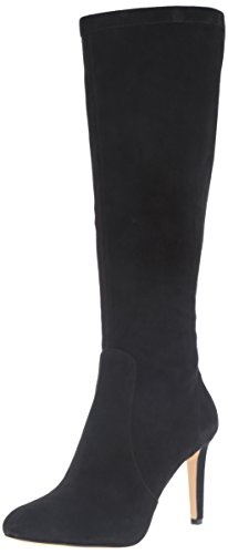 Nine West Women's Holdtight Suede Knee-High Boot, Black, 5 M US