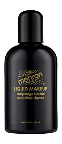 Mehron Makeup Liquid Face and Body Paint (4.5 oz) (Black)