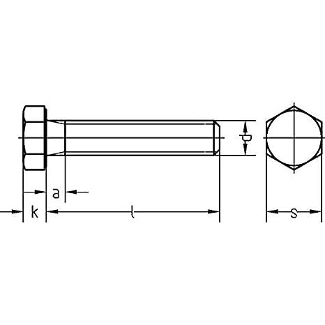 verzinkt M 8 x 25 ehem.DIN 933 200 St/ück Dresselhaus 0//0222//001//8,0//25// //01 Sechskantschrauben 8.8 mit Gewinde bis Kopf DIN EN ISO 4017 galv