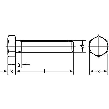 Sechskantschrauben 8.8 mit Gewinde bis Kopf DIN 933 DIN-EN-ISO 4017  M 8 x 18