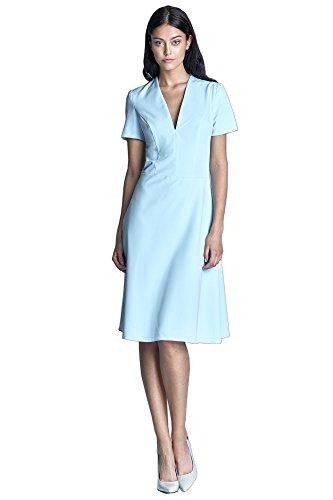Nife Damen Dress Schlauch Hellblau Nife Damen 4qvpw5x67