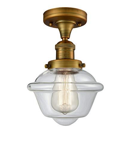 1 Semi Light Mount Flush (INNOVATIONS LIGHTING 517-1CH-BB-G532 1 Light Small Oxford 11 inch Semi-Flush Mount)