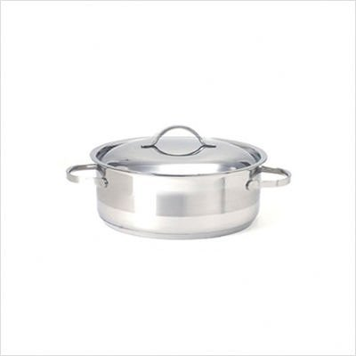 Cuisinox POT-C30-RD Gourmet Covered Rondeau Roasting Pan, 7.0-Liter/8-Quart, Stainless ()