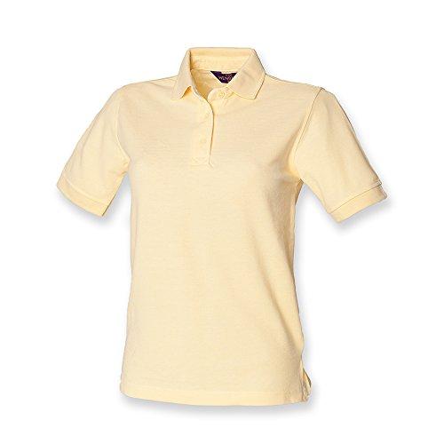 Henbury �?camiseta tipo polo para dama amarillo