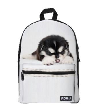 LightningStore Super Cute Children Siberian Husky Puppy School Bags Kindergarten Girls Boys Kid Backpack Cartoon Toys