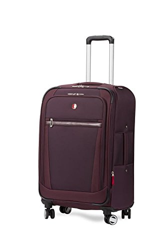 Swiss Gear Polyester 24'' Purple Soft Expandable Check in Luggage  7760919167