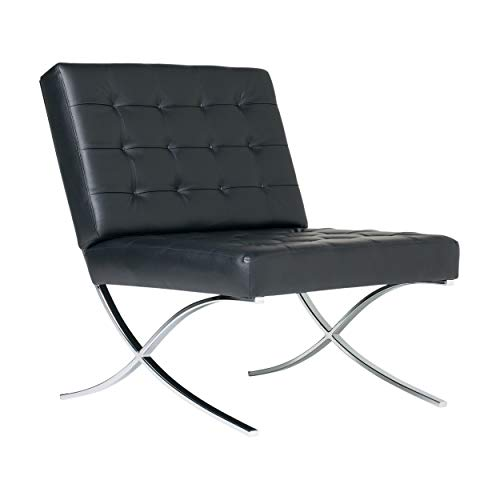 (Studio Designs 72008 Bonded Leather Atrium Accent Chair, Black)
