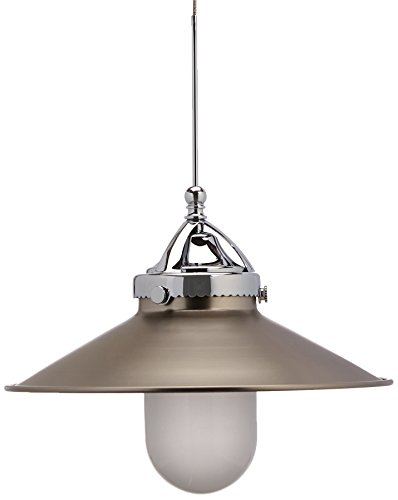 WAC Lighting QP-LED481-BN/CH Freeport Quick Connect LEDme Pendant with Brushed Nickel Shade and Chrome Socket Set