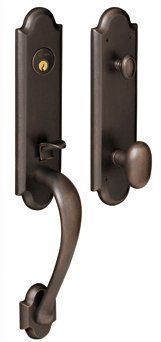 Baldwin 85354.102.FD Boulder 3/4-Inch Escutcheon Handleset Emergency Egress with Oval Knob, Oil Rubbed Bronze