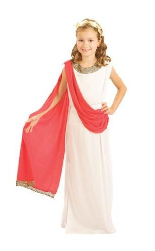 Girls Fancy Dress Costume Aphrodite - Large Toga Party Rome Sparticus by A2Z Kids (Aphrodite Costume Child)