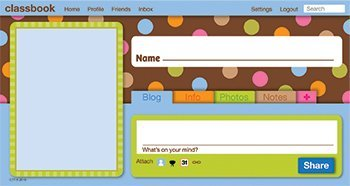 Classbook Web Page Headers Jumbo Designer (Page Cut Outs)