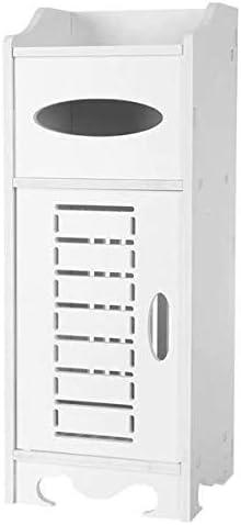 armario de madera con caj/ón de almacenamiento color blanco Armario de ba/ño impermeable para una sola puerta IsEasy