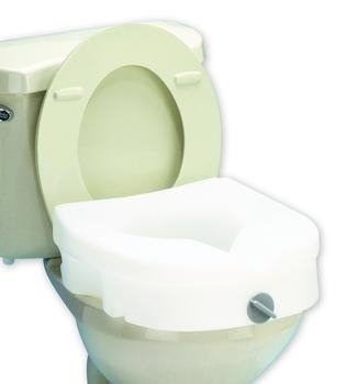 E-Z Lock Raised Toilet Seat - Retail, With Padded, Adjustable Arms - 1 case (2 Each)