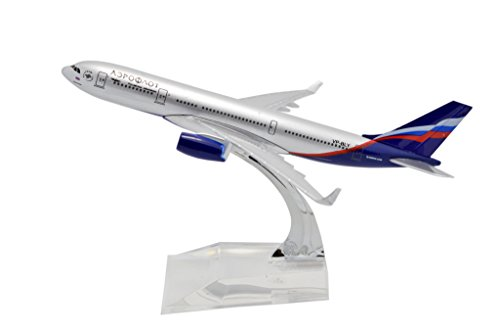 TANG DYNASTY(TM) 1:400 16cm Air Bus A330 Aeroflot Metal Airplane Model Plane Toy Plane Model