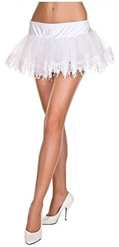 Tear Drop Net Petticoat Adult Costume Accessory White - One (Tear Drop Lace Petticoat White)