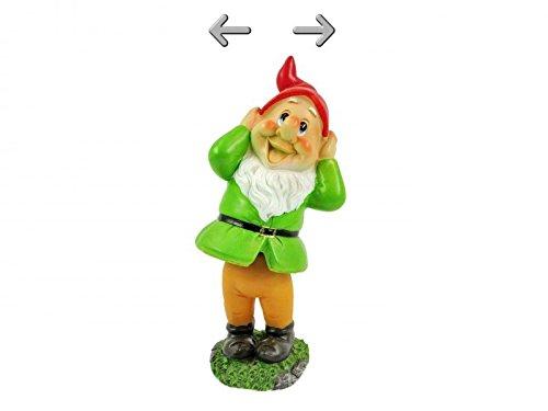 Lifetime Garden Resin Wobbling Dancing Gnome Outdoor Ornament Toadstool Statue (Blue Coat)