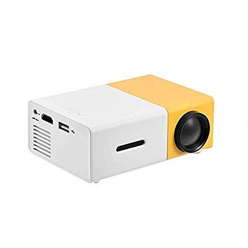 Mini Beamer Portable 320 * 240 Fysieke resolutie LED Beamer voor Home Theater Projector Ondersteuning 1080P HDMI, AV…