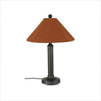 - Patio Living Concepts Catalina 34 in. Bisque Outdoor Table Lamp with Canvas Linen Shade