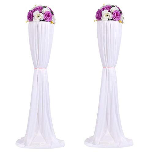 Amon Tech 8PCS Flower Column Stands Elegant Wedding Flower Column with Cloth Cover for Wedding Party Decoration (120cm) -
