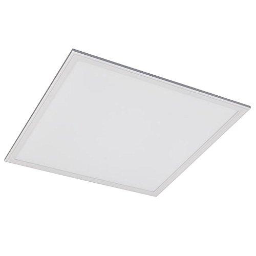 - LEDwholesalers 24x24-in LED Panel Light 40-Watt Edge-Lit Super Bright Ultra Thin Glare-Free, White, 2104WH