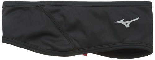 - Mizuno Running BT Wind Guard Head Band, Black, One Size