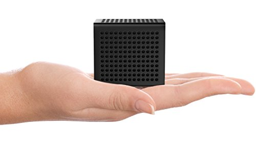 Price comparison product image RIF6 Sound Cube Small Bluetooth Speaker - Rechargeable Portable Mini Speaker With Up To 12 Hour Playtime - Full High Definition Sound and Robust Bass - For Smartphones Tablets and Laptops (Black)