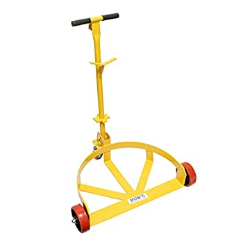 Image of BISupply 55 Gallon Drum Dolly Barrel Wheels Barrel Dolly for 55 Gallon Drum Cart Round Dolly Steel Low Profile 1200lbs Dollies