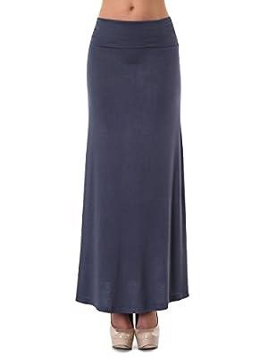 Women's Classic Full Length A-Line Maxi Skirt
