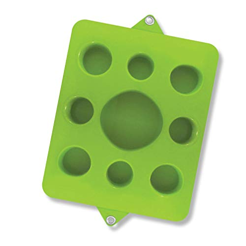VOS Family Size Floating Refreshments Holding Tray for Snacks and Drinks | Ultra Buoyant Water Floats for Pools Sandbars Parties, 9-Holes, Kiwi Green ()
