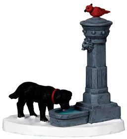 Lemax Village Collection 2010 Coventry Cove Water Fountain Figurine Accessory -