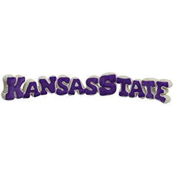 NCAA Kansas State Wildcats Purple-White Plush Spirit Name Pillow