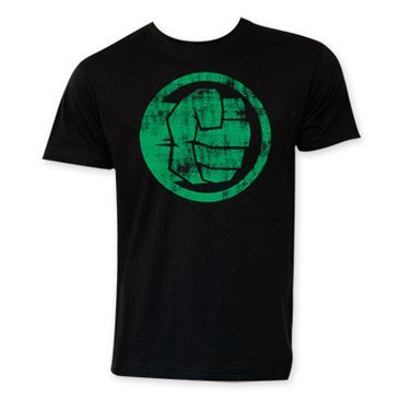 Marvel Hulk Fist Bump 30 Single T-Shirt- XLarge Black]()