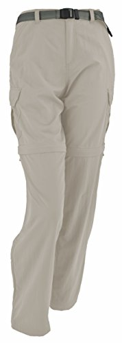 (White Sierra Women's Teton Trail 31-Inch Inseam Convertible Pant, Medium, Stone)