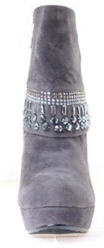 Stiefeletten Plateau Damen Farbe Grau (36)