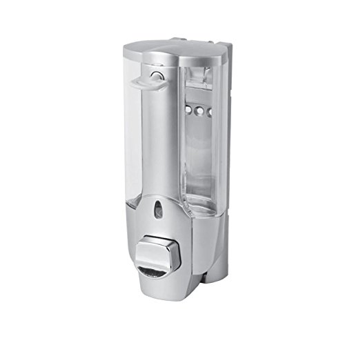 Liquid Soap Dispenser Lockable Plastic Matte Chrome-Plated 0.5 Litre Capacity