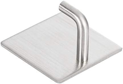 Ganchos de Pared Perchas de Pared de Alta Resistencia Ganchos Impermeables de Acero Inoxidable para Bata Astilla Toalla de ba/ño Ganchos Adhesivos