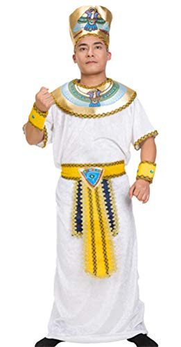 SATUKI Men's Arab Prince Costume Halloween Party Dubai Sheik Costume(Free Size)]()