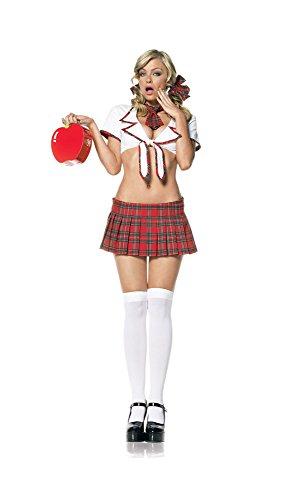 Miss Prep School Adult Costume Red - Medium/Large