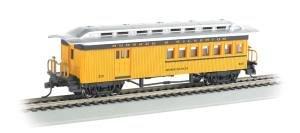 Bachmann Industries 1860 - 1880 Passenger Cars - Combine - Durango & Silverton #213, Yellow, Black & Silver from Bachmann Industries Inc