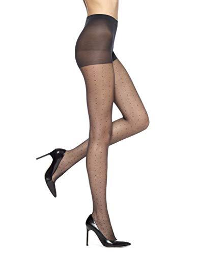 HUE Women's 3-Pack Tulle Dot, Black, Size 3