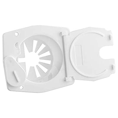 Halotronics RV Square Electrical Cable Hatch for 30 Amp Cords (White): Automotive